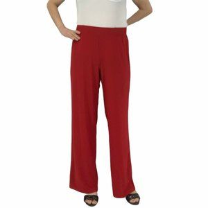 Iman Red Palazzo Pants Wide Leg High Waist Size 1x